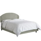 Chanler Upholstered Panel Bed Headboard Color: Light Gray, Size: Queen