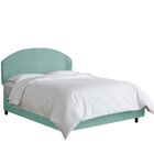Chanler Upholstered Panel Bed Size: Twin, Headboard Color: Caribbean