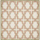 McArthur Ivory/Light Green Outdoor Area Rug Rug Size: Square 7'