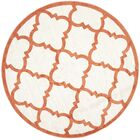 Maritza Geometric Beige/Orange Indoor/Outdoor Area Rug Rug Size: Rectangle 9' x 12'