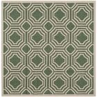 Olsene Dark Green/Beige Indoor/Outdoor Area Rug Rug Size: Square 5'3
