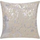 Stacia Metallic Splash Throw Pillow Color: White/Silver