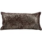 Bassilly Laser Cut Natural Leather Lumbar Pillow