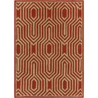 Electra Hand Tufted Rectangle Contemporary Orange/Cream Area Rug Rug Size: 7' x 10'