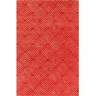 Borset Hand Tufted Wool Red/Cream Area Rug Rug Size: 8' x 10'