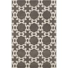 Erith Abstract Chocolate/Beige Area Rug Rug Size: 5' x 7'6