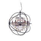 Svante 6-Light Globe Pendant Crystal: Golden Teak (Smoky), Finish: Rustic Intent
