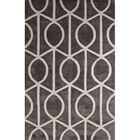 Blondell Wool and Art Silk Hand Tufted Pewter/White Area Rug Rug Size: Rectangle 2' x 3'