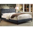 Euphemia Fabric Platform Bed Color: Gray, Size: Double