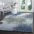 Germain Hand-Tufted Gray/Blue Area Rug Rug Size: Square 6'
