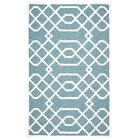 Davinia Hand-Tufted Teal/Off White Area Rug Size: Rectangle 5' x 8'