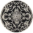 Armstrong Black / Ivory Rug Rug Size: Round 6'