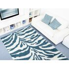 Creissant Turquoise/White Indoor/Outdoor Area Rug Rug Size: 7' x 10'