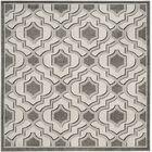Maritza Wool Ivory/Gray Indoor/Outdoor Area Rug Rug Size: Square 7'