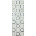 Giles Hand-Knotted Ivory/Blue Area Rug Rug Size: Runner 2'6