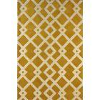 Glenside Hand-Tufted Gold/Ivory Area Rug Rug Size: Rectangle 6' x 9'