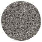 Kater Platinum/Ivory Area Rug Rug Size: Round 5'