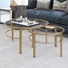 Ikner Coffee Table Base Color: Gold