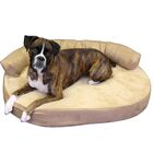 Cassie Orthopedic Memory Foam Joint Relief Bolster Dog Bed Color: Toffee, Size: Extra Large (52