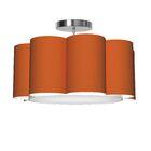 Bloom 1-Light Pendant Shade Color: Orange
