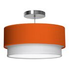 Luther 1-Light Pendant Shade Color: Orange, Size: 10
