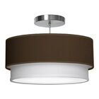 Luther 1-Light Pendant Shade Color: Chocolate, Size: 10