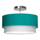 Luther 1-Light Pendant Shade Color: Turquoise, Size: 7.5