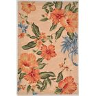 Remington Hand-Tufted Wool Blush Hibiscuz Area Rug