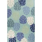 Affric Palms Hand Hooked Turquoise Indoor/Outdoor Area Rug Rug Size: Rectangle 7'6