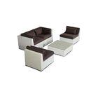 Kauna 5 Piece Sofa Set with Cushions Fabric: Graphite, Color: White