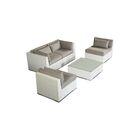Kauna 5 Piece Sofa Set with Cushions Fabric: Grey, Color: White