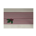 Holly Stripe Decorative Holiday Stripe Print Cranberry White Indoor/Outdoor Area Rug Rug Size: Rectangle 3' x 5'