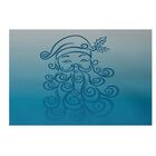 Santa Baby Decorative Holiday Ombre Print Navy Blue Indoor/Outdoor Area Rug Rug Size: Rectangle 5' x 7'