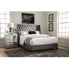 Greig Upholstered Panel Bed Size: California King, Color: Gray