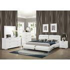 Kratz Upholstered Platform Bed Size: Queen, Color: White
