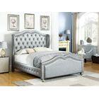 Kulikowski Upholstered Panel Bed Size: California King, Color: Metallic