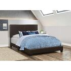 Fenagh Upholstered Panel Bed Size: Twin, Color: Brown