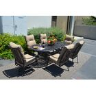 Florence 7 Piece Dining Set with Cushions