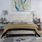 Hankerson Upholstered Platform Bed Color: Light Gray, Size: Queen
