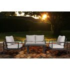 Buswell 4 Piece Sofa Set with Cushions