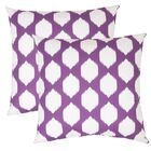 Bellis Ogee Outdoor Throw Pillow (Set of 2) Color: Purple