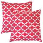 Luigi Geometric Cotton Throw Pillow Color: Pink