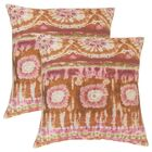 Deonte Ikat Throw Pillow Color: Guava