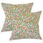 Summy Graphic Cotton Throw Pillow