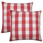 Berkeley Plaid Cotton Throw Pillow Color: Cherry