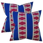 Fondia Geometric Cotton Throw Pillow