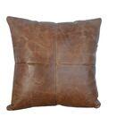 Tebin Leather Throw Pillow