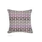 Elite Color Path Indoor/Outdoor Sunbrella Throw Pillow Color: Purple, Size: 18