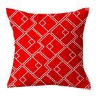 Chain Geometric Throw Pillow Size: 20