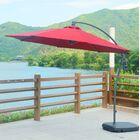 Meg 10' Cantilever Umbrella Fabric Color: Red Wine